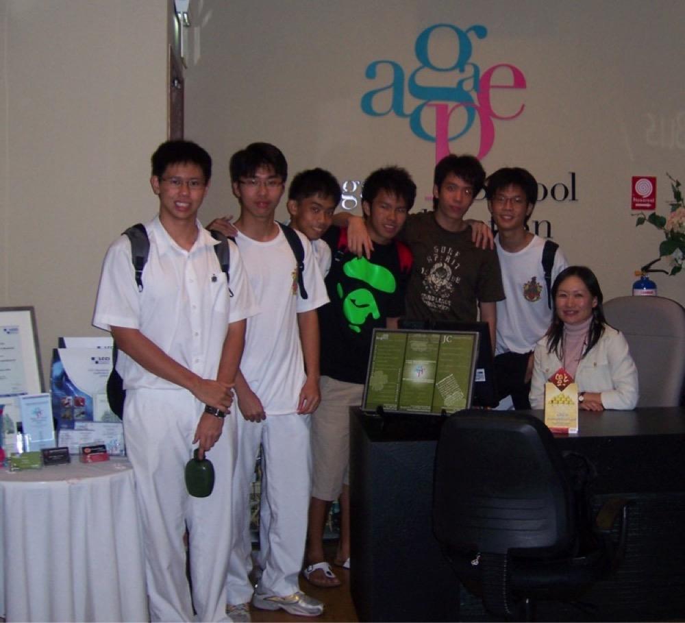 Agape School of Education Japanese JC Students with teacher Mariko